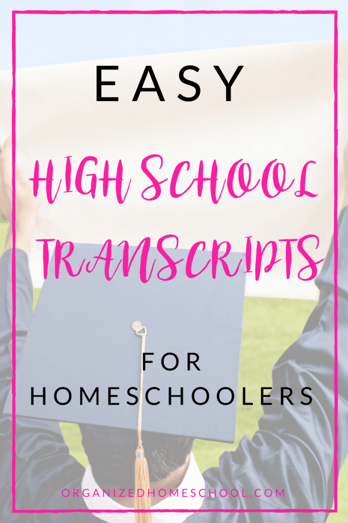 Easy High School Transcripts for Homeschoolers