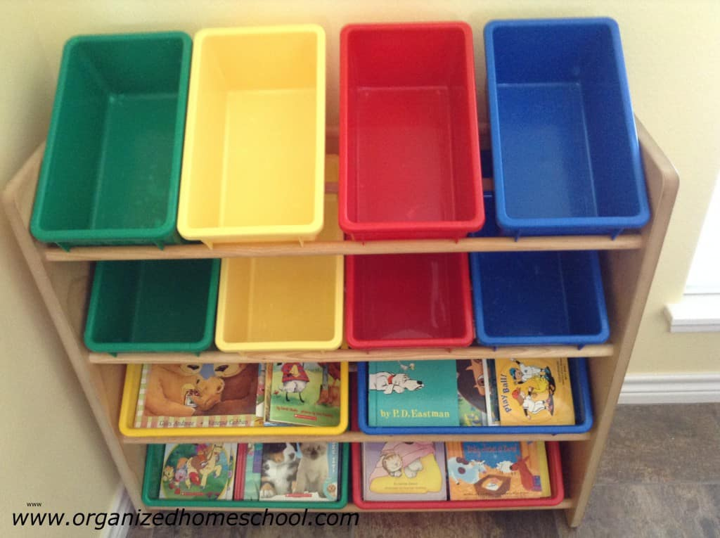 Bins with childrens books