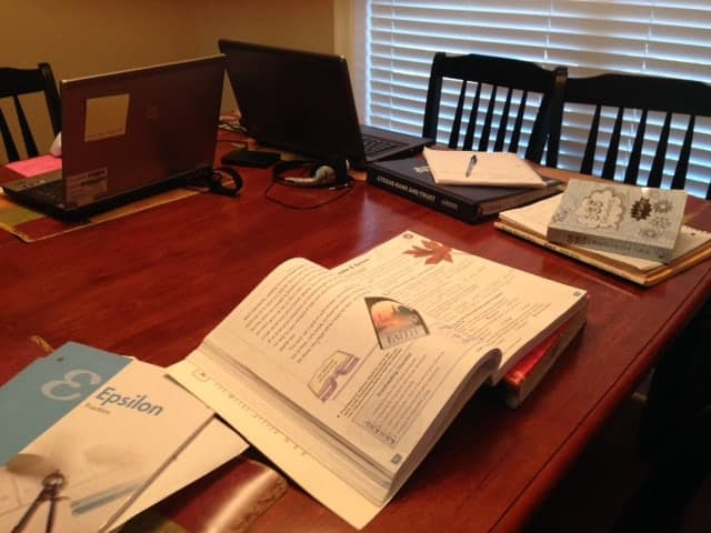 Tackling the homeschool table