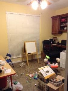 homeschool room before
