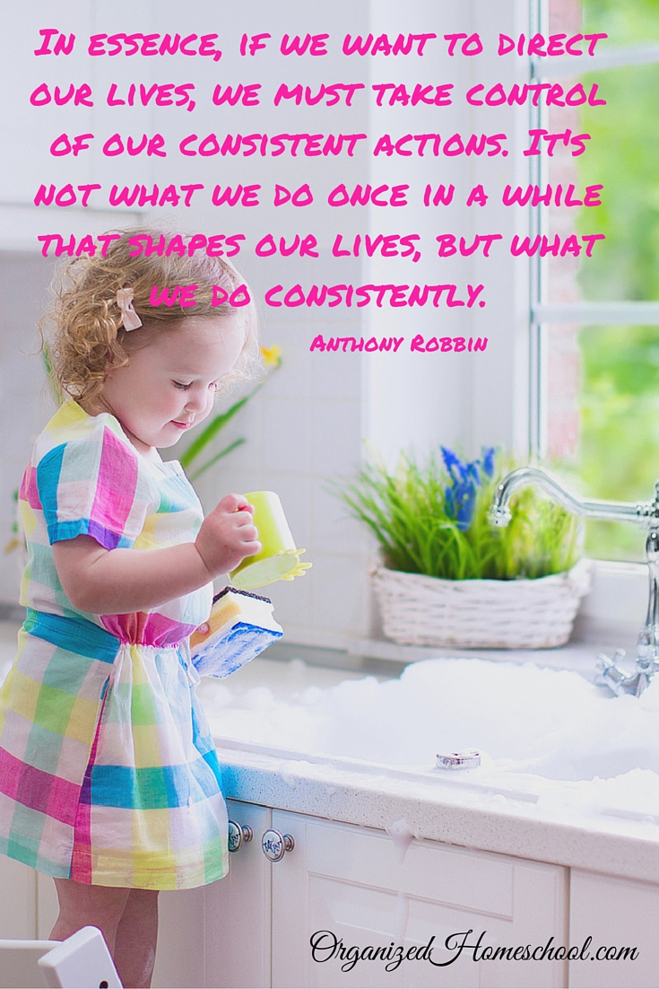 if we want to direct our lives we must take control of our consistent actions