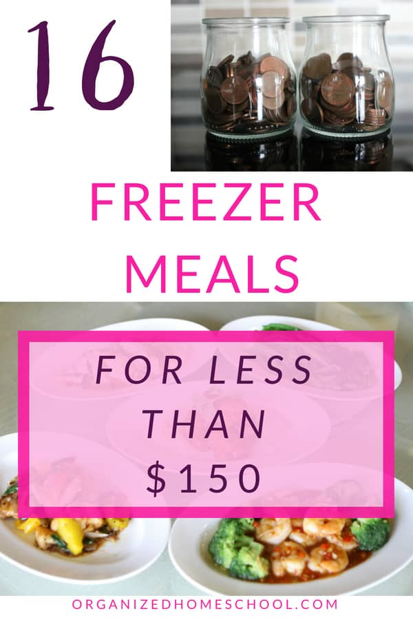 16 freezer meals for less than 150