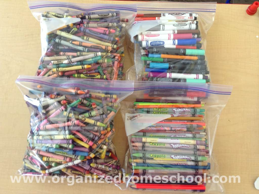 Homeschool Supplies Organized