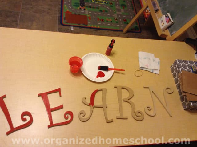 homeschool letters spell learn