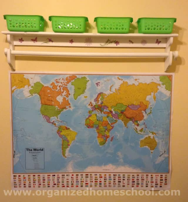 homeschooling room ideas map