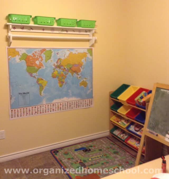Homeschool room ideas storage bins