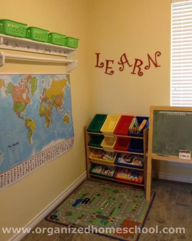 homeschool reading corner