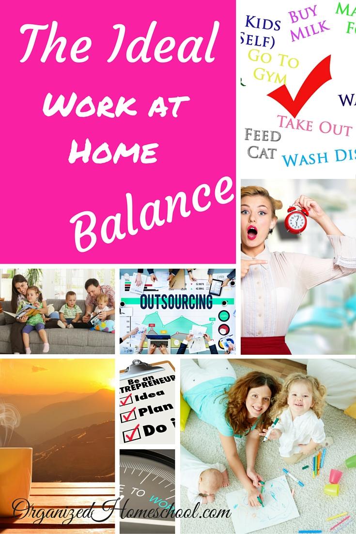 Ideal Work at Home Balance