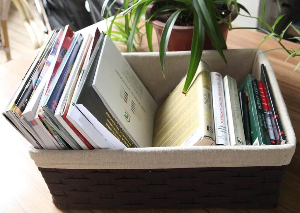 Basket for summer reading books
