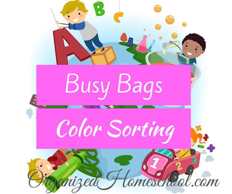 Busy Bag Ideas Color Sorting
