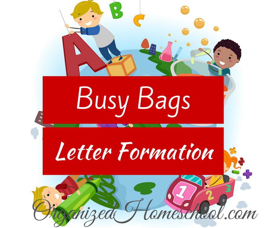 Busy Bag Ideas letter formation