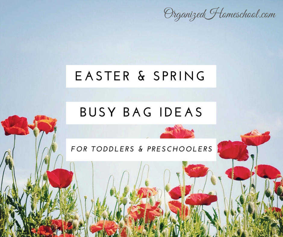 Easter and Spring Busy Bag Ideas