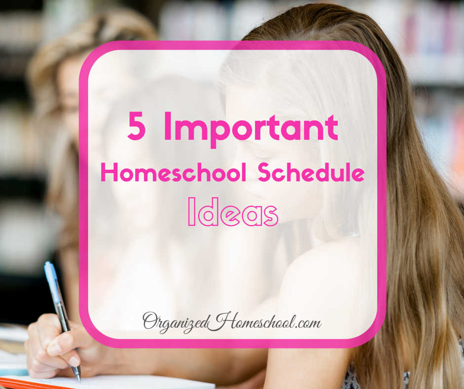 5 Important Homeschool Schedule Ideas