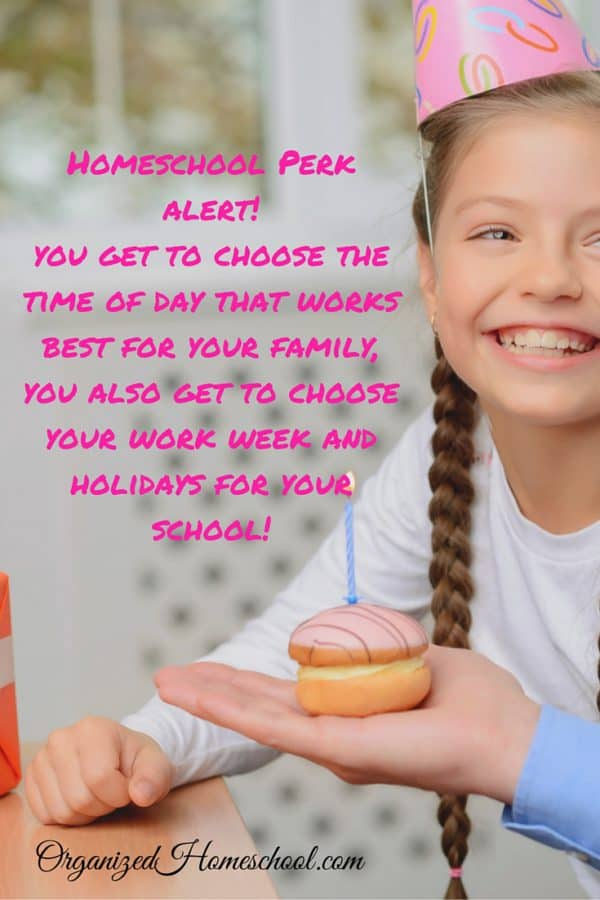 Homeschool schedule idea Perk Alert You get to choose