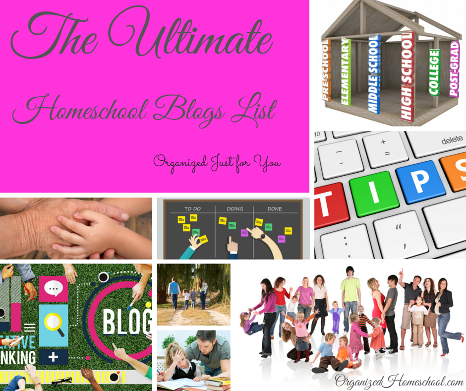 The Ultimate Homeschool Blogs List Organized Just For You