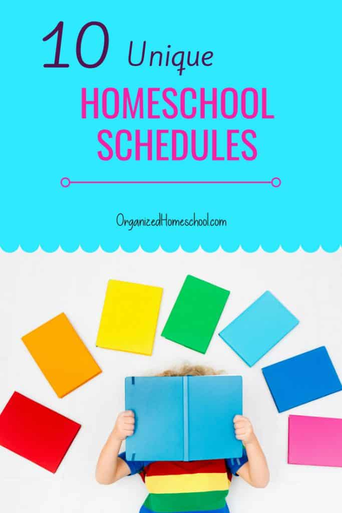 large family weekly unique homeschool schedule ideas