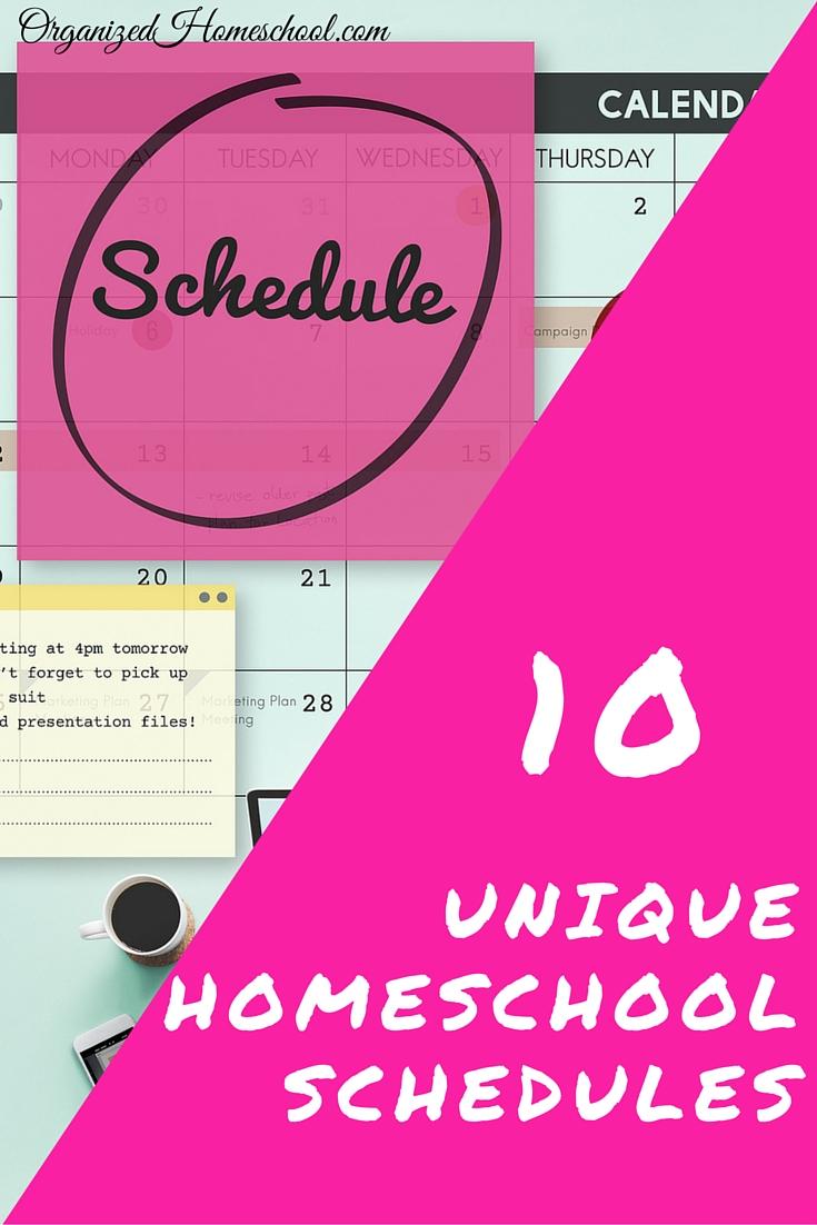 10 unique homeschool schedules