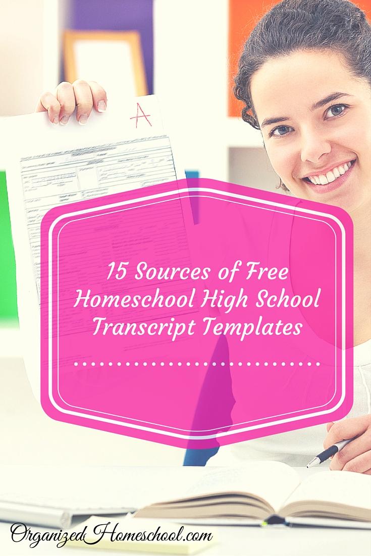 15 Sources of Free Homeschool High School Transcript Templates