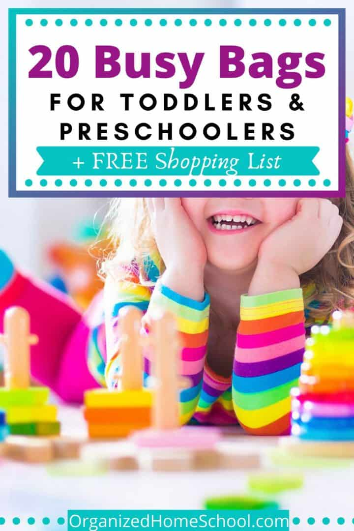 Busy bag ideas for toddlers and preschoolers