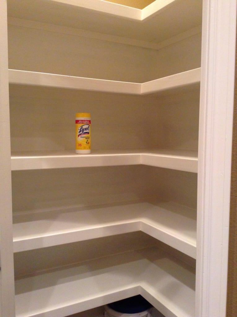 cleaning pantry shelves