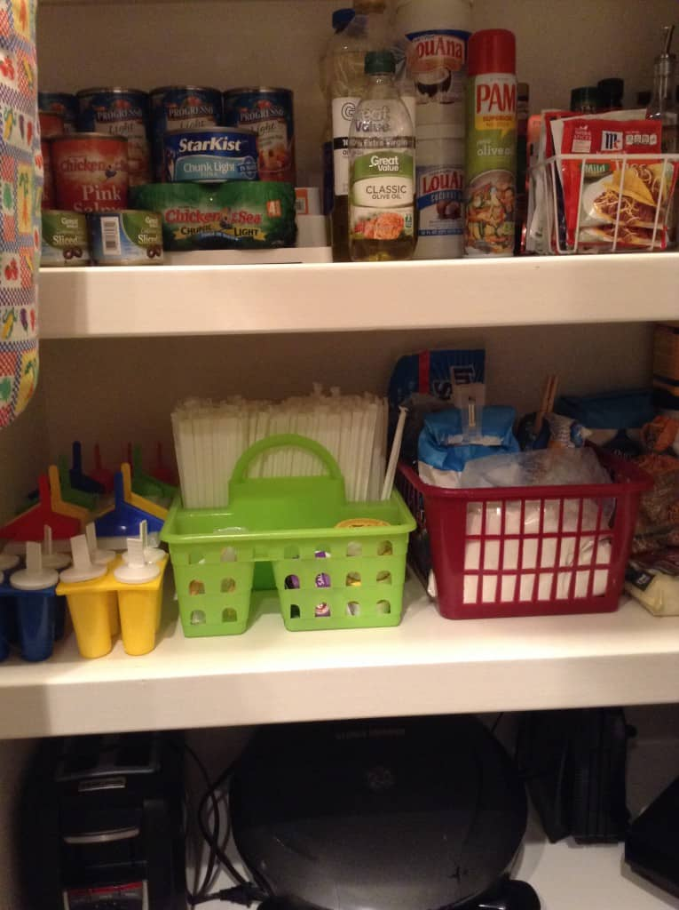 organized pantry condiments