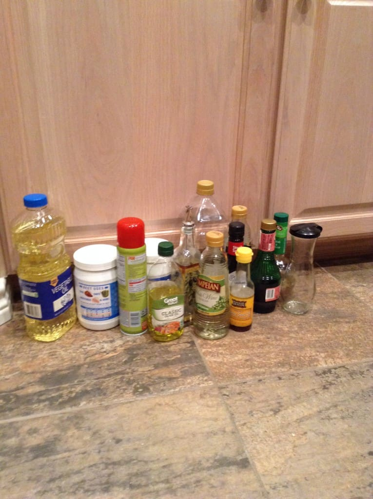 organized pantry oils