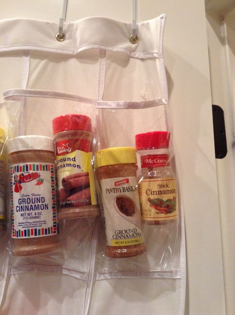 organized pantry too much cinnamon