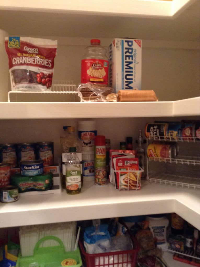 pantry organization baking goods