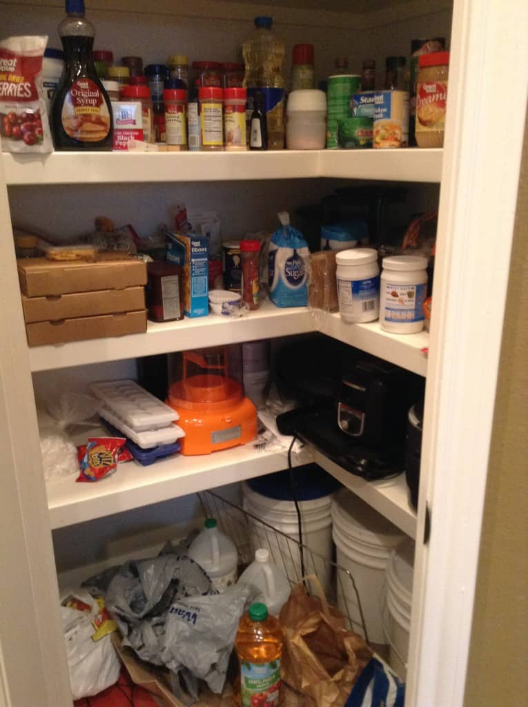 pantry organization before