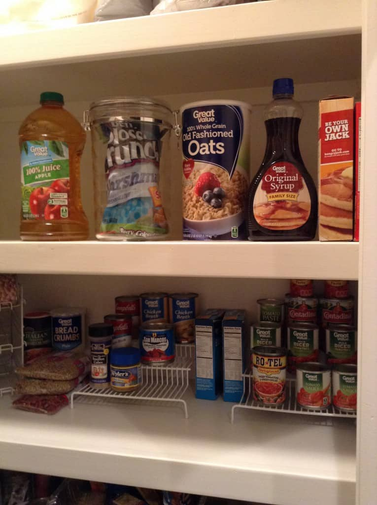 pantry organization breakfast foods