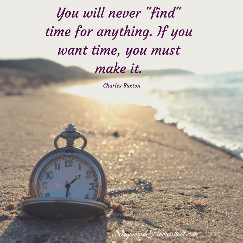 If you want time, you must make it