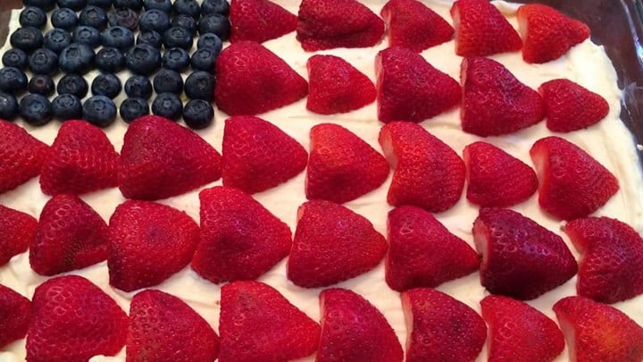 4th of july party flag cheesecake