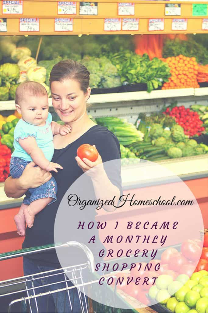 How I Became A Monthly Grocery Shopping Convert