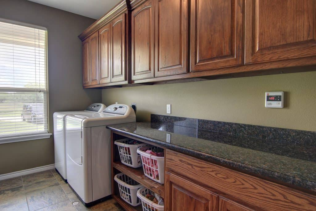 how to declutter a house Laundry Room