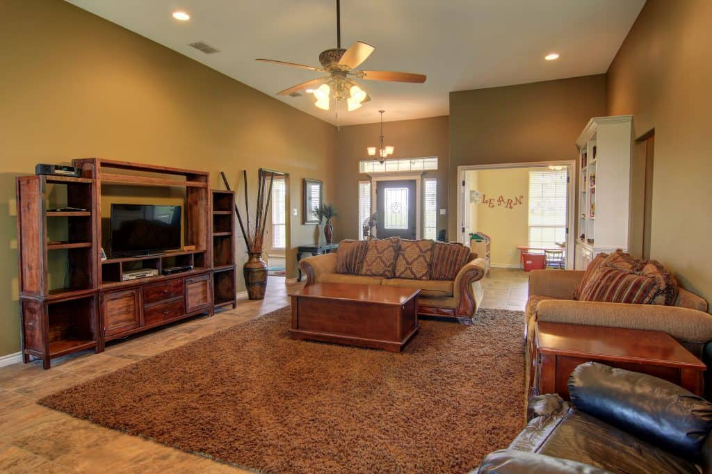 how to declutter a house Living Area