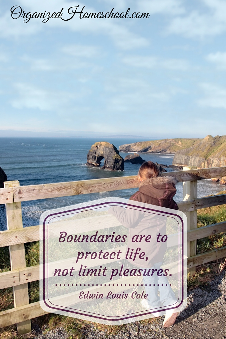 Boundaries are to protect life