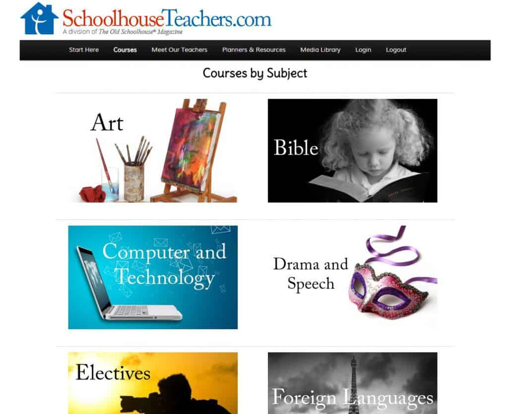 homeschool courses by subject