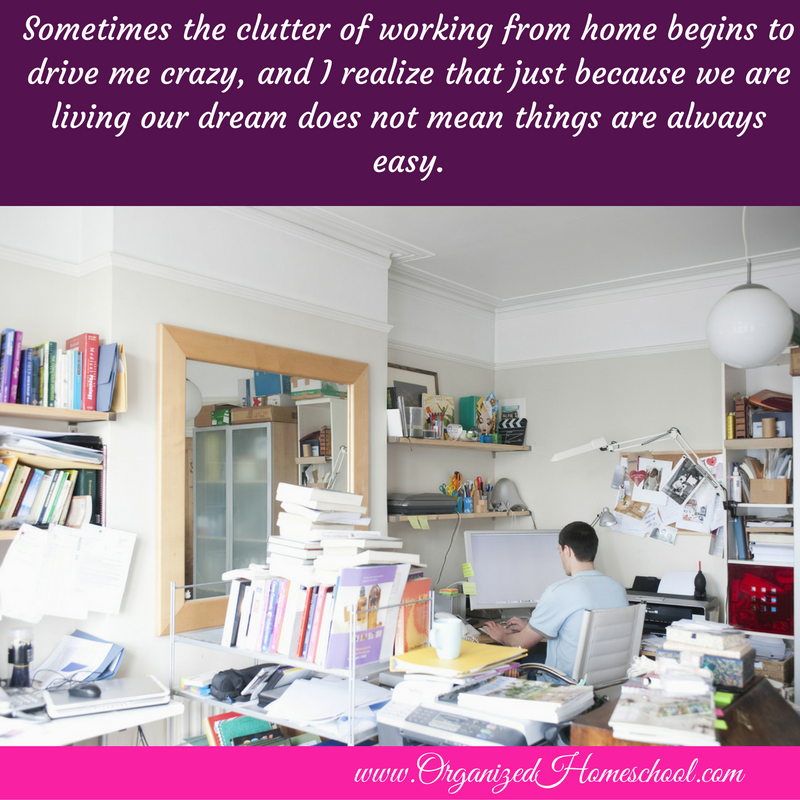 clutter from working from home