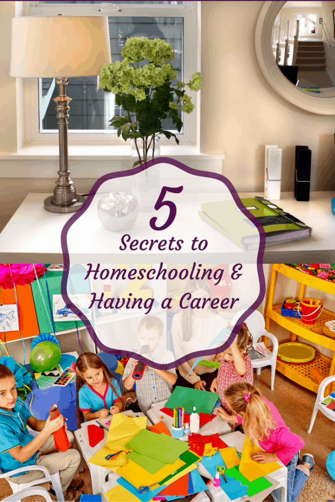 5 steps to homeschooling and having a career