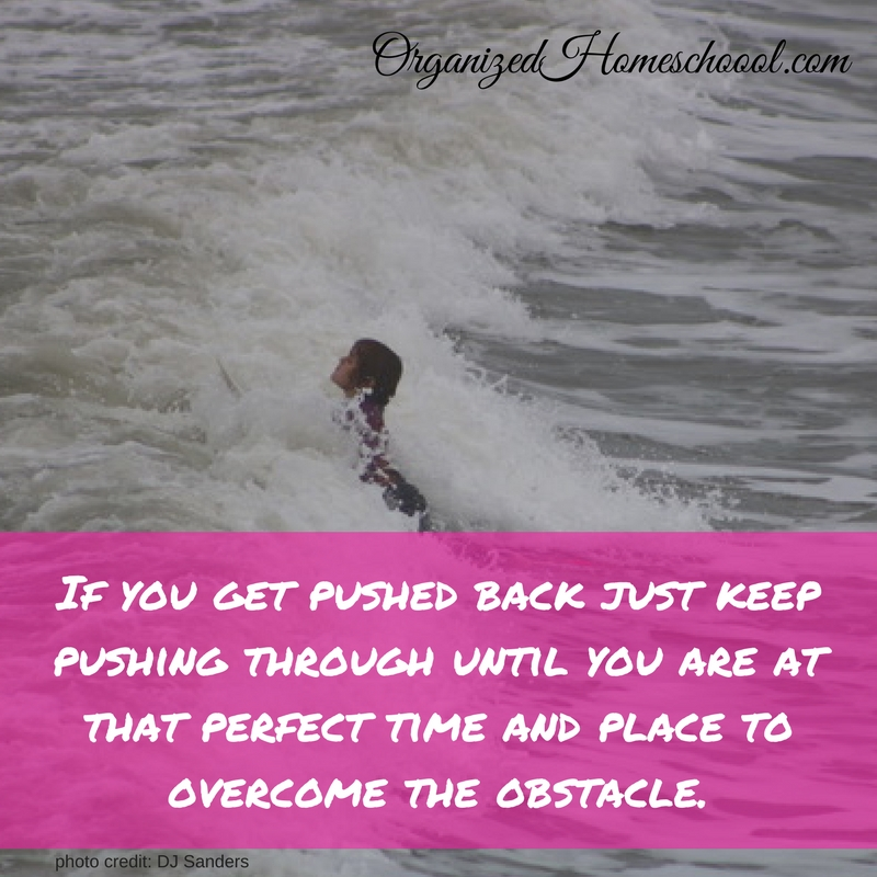 Keep Pushing through Obstacles