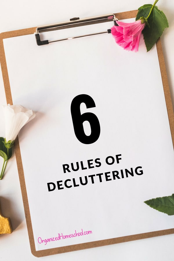 When it comes to getting organized, one of the key elements must be decluttering. However, the very idea of getting rid of their possessions strikes fear into the hearts of many.. As with any other process, it often helps to have some rules in place.  Here are six rules of decluttering to help you take steps toward living a clutter-free life.