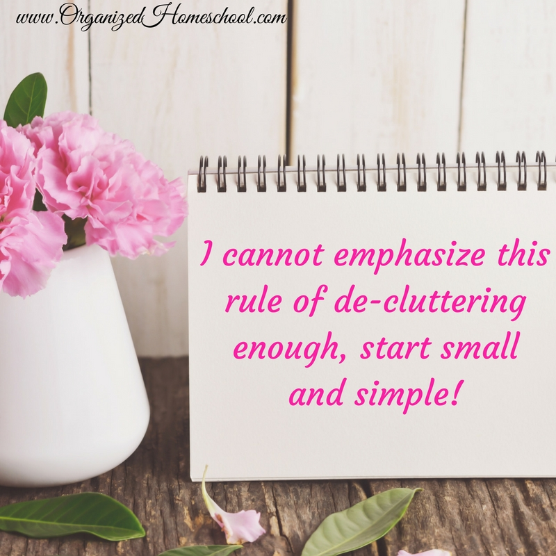 Start small and simple
