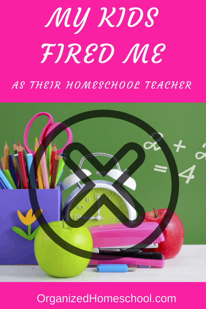 I have been fired! That is the only way I can describe what happened last January. You see, I have been homeschooling 8 1/2 years. My oldest was in first grade when we started homeschooling. Along came daughter #2 and she of course was homeschooled from the beginning. Daughter #3 is only 5 right now, but when she was four years old she informed me that she couldn't wait to meet her Kindergarten teacher. I gently explained to her that I was her Kindergarten teacher, but she would never agree with me. Little did I know my 4 year old has a prophetic gift I believe.