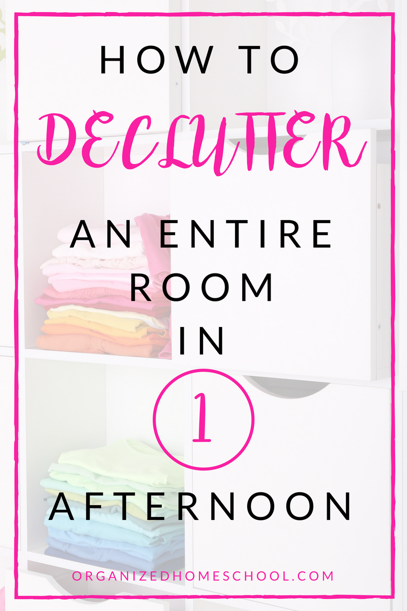 How to Declutter an Entire Room in One Afternoon