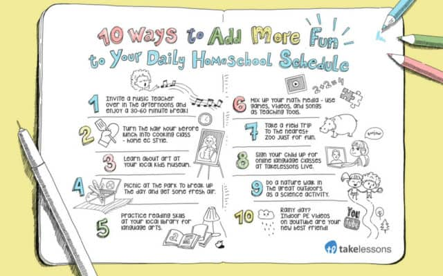 10 Tips to Liven Up Your Homeschool Schedule