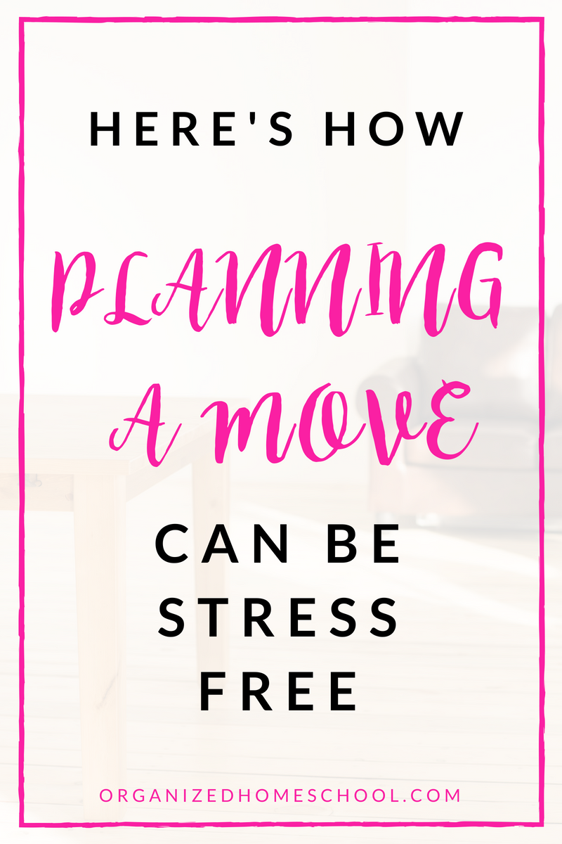 planning a move can be stress free