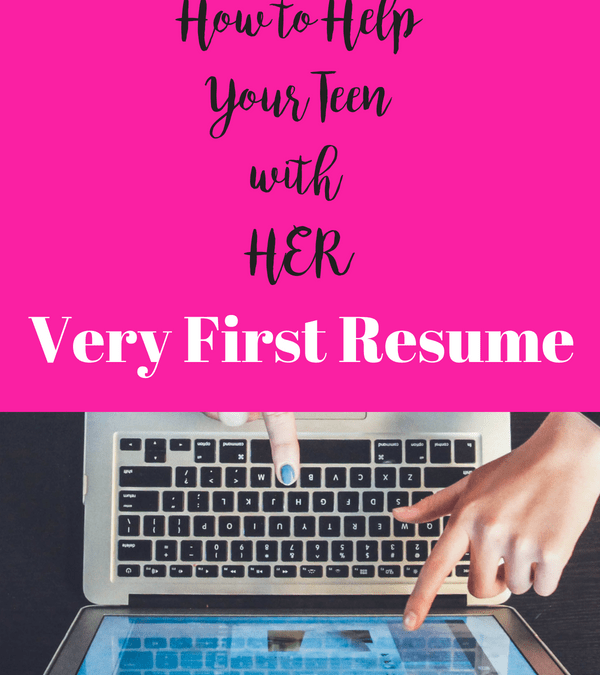 How to Help Your Children With Their Very First Resume