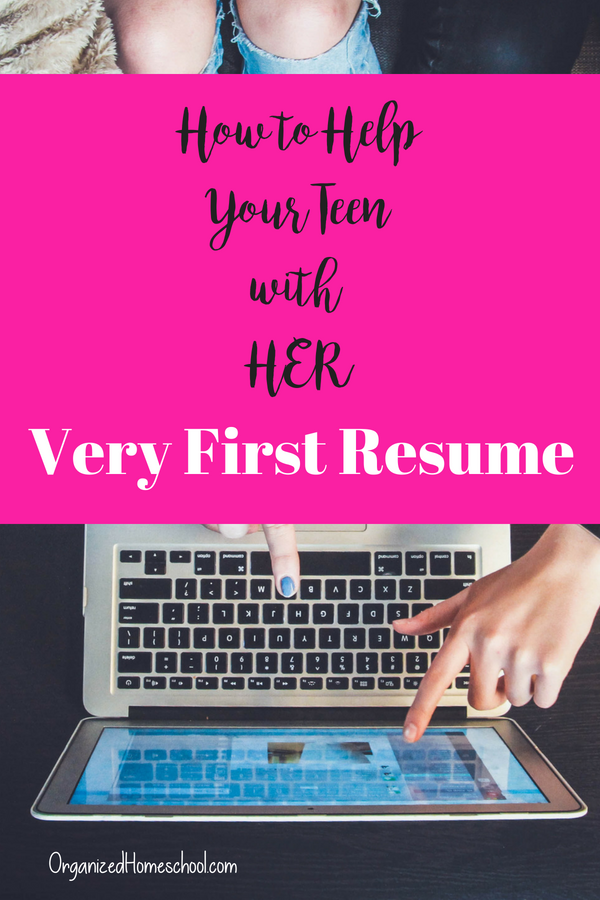 How to Help Your Teen with HER very first resume