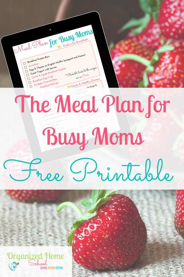 Grab this free meal planning printable for busy moms. Done for you meal plan with grocery list to help you with the meal planning process.