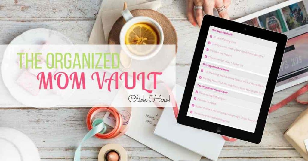 Mom Vault organizing freebies